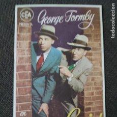 Cine: FOLLETO DE MANO DETECTIVE GENIAL , GEORGE FORMBY ,. Lote 279585493