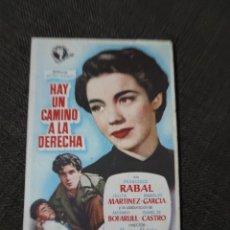 Cine: FOLLETO DE MANO HAY UN CAMINO A LA DERECHA , FRANCISCO RABAL ,. Lote 279585823