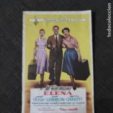 Cine: FOLLETO DE MANO MI HERMANA HELENA , JANET LEIGHT ,. Lote 279585948