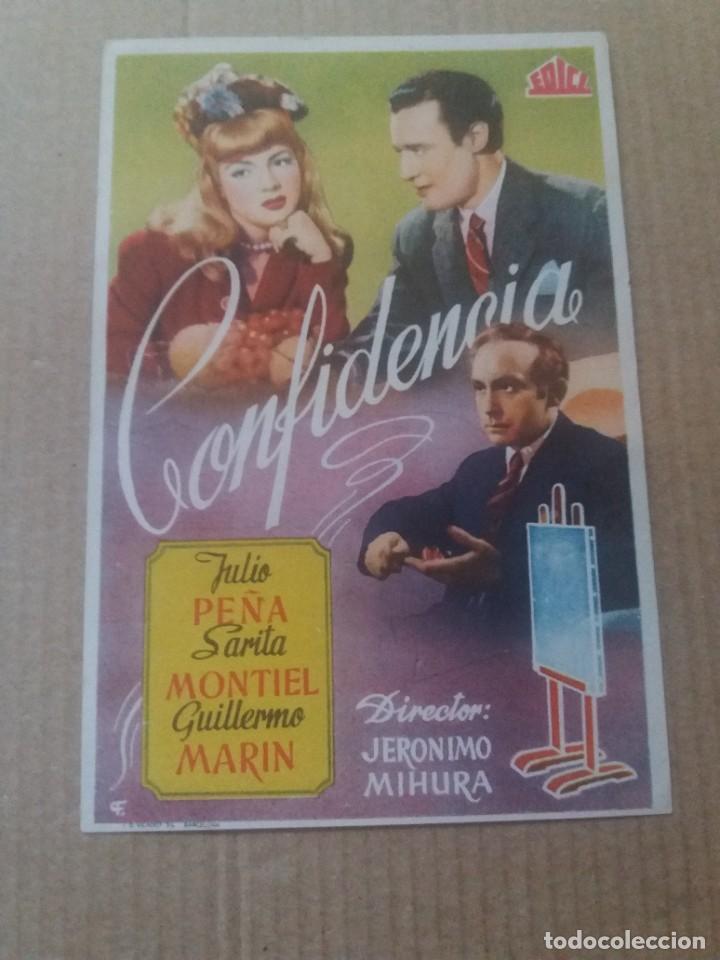 CONFIDENCIA (Cine - Folletos de Mano - Drama)