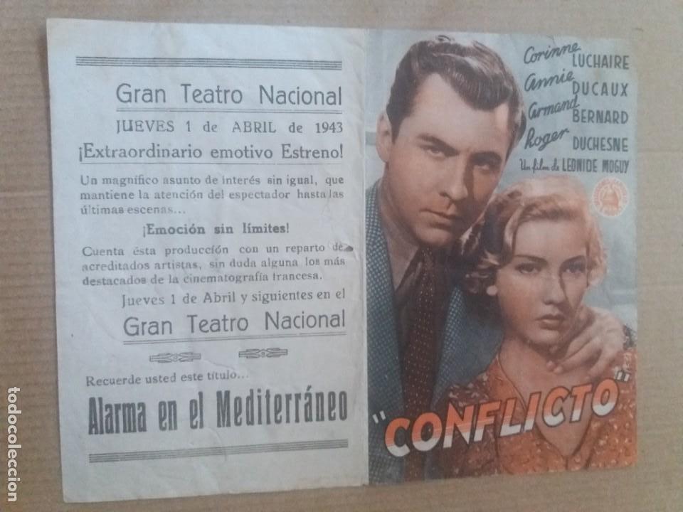 CONFLICTO DOBLE CON PUBLICIDAD TEATRO GRAN TEATRO NACIONAL (Cine - Folletos de Mano - Drama)