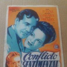 Cine: CONFLICTO SENTIMENTAL CON PUBLICIDAD CINEMA RADIO VIGO. Lote 279593313