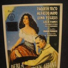 Cine: DEBLA LA VIRGEN GITANA , SIN PUBLICIDAD. Lote 280111933