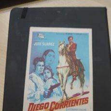 Cine: FOLLETO DE MANO DIEFO CORRIENTES , JOSE SUAREZ ,. Lote 280113953