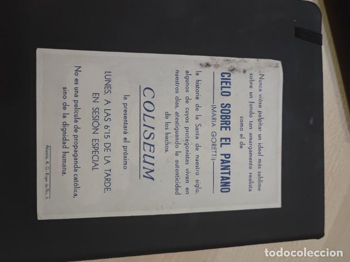 Cine: folleto de mano CIELO SOBRE EL PANTANO , Maria Goretti , - Foto 2 - 280114148