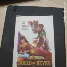 Cine: FOLLETO DE MANO DUELO DE REYES , YVONNE FURNEAUX ,. Lote 280114203