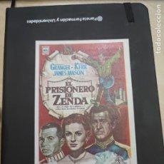 Cine: FOLLETO DE MANO EL PRISIONERO DE ZENDA , STEWART GRANGER , 1969. Lote 280122688