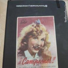 Cine: FOLLETO DE MANO CAMPEONES , LUCHY SOTO ,. Lote 280122793