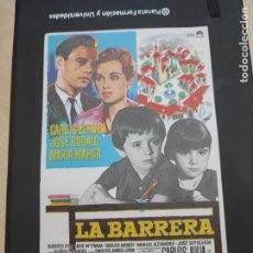 Cine: FOLLETO DE MANO LA BARRERA , CARLOS ESTRADA ,. Lote 280122848
