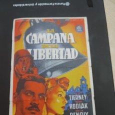 Cine: FOLLETO DE MANO LA CAMPANA DE LA LIBERTAD , TIERNEY , 1947. Lote 280123043