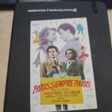 Cine: FOLLETO DE MANO PARIS SIEMPRE PARIS , LUCIA BOSE ,. Lote 280123073
