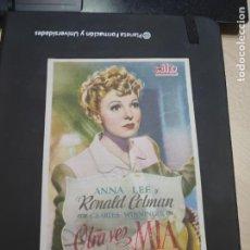 Cine: FOLLETO DE MANO OTRA VEZ MIA , RONALD COLMAN , 1945. Lote 280123088