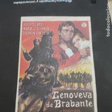 Cine: FOLLETO DE MANO GENOVEVA DE BRABANTE , GAR MOORE , 1948. Lote 280123213