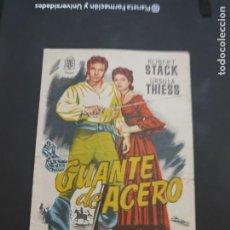 Cine: FOLLETO DE MANO GUANTE DE ACERO , ROBERT STACK , 1956. Lote 280123373