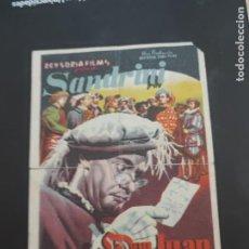 Cine: FOLLETO DE MANO DON JUAN TENORIO , SANDRINI , 1950. Lote 280123453