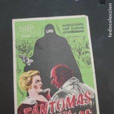 Cine: FOLLETO DE MANO FANTOMAS CONTRA FANTOMAS , MARCELLE CHANTAL , 1950. Lote 280123533