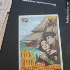 Cine: FOLLETO DE MANO EL MUNDO EN SUS MANOS , GREGORY PECK , 1953. Lote 280123778