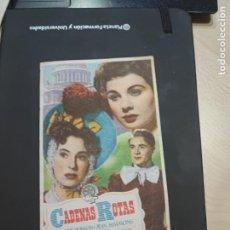 Cine: FOLLETO DE MANO CADENAS ROTAS , VALERIE HOBSON , 1950. Lote 280124123
