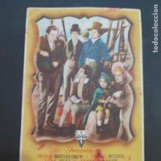 Cine: FOLLETO DE MANO LA FAMILIA ROBINSON , FREDDIE BARTHOLOMEW , 1944. Lote 280124263