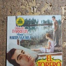 Foglietti di film di film antichi di cinema: FOLLETO DE MANO DOBLE DE LA PELICULA EL TORERO. Lote 280542928