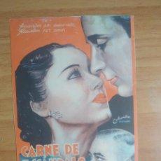 Cine: Z-- PROGRAMAS DE CINE-- CARNE DE ESCANDALO. Lote 280815793