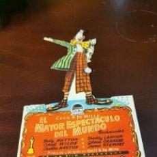 Foglietti di film di film antichi di cinema: PROGRAMA DE MANO ORIG - EL MAYOR ESPECTÁCULO DEL MUNDO - CON CINE GRAN TEATRO IMPRESO AL DORSO. Lote 281913728