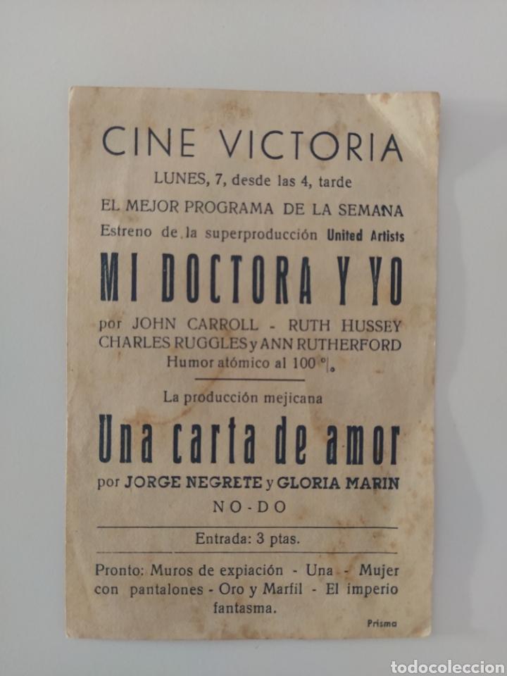 Cine: Publicidad Antigua cine Mi Doctora y yo - Foto 2 - 281929863