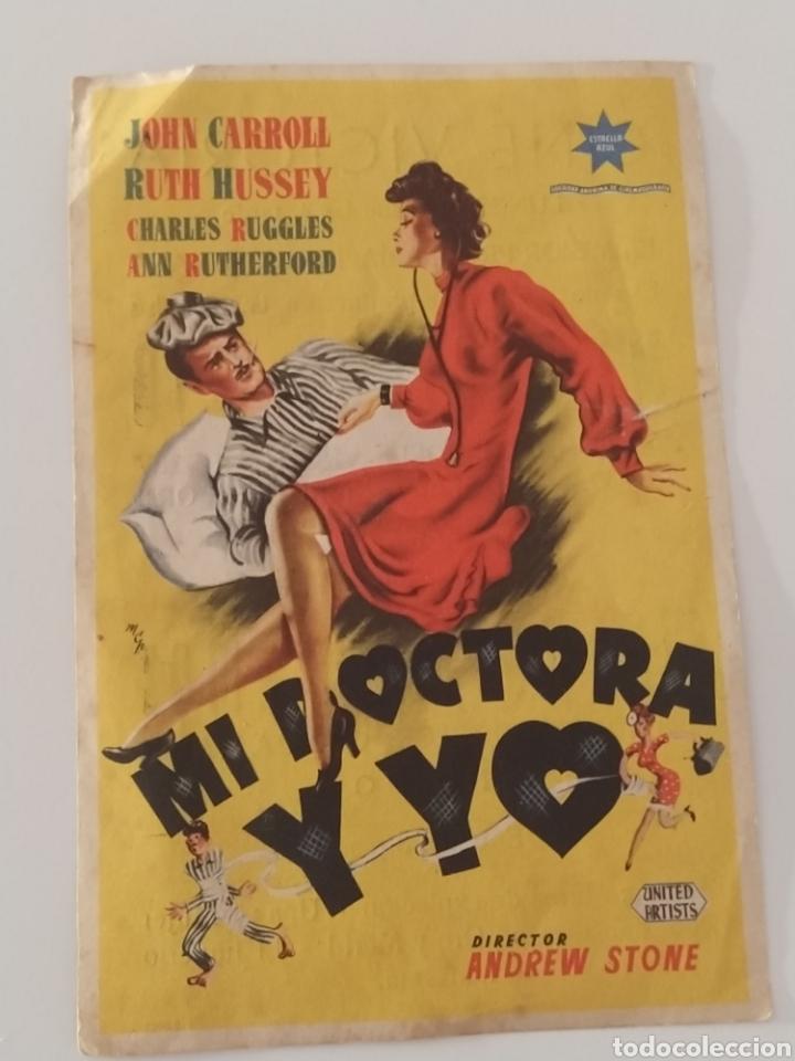 PUBLICIDAD ANTIGUA CINE MI DOCTORA Y YO (Cine - Folletos de Mano - Comedia)
