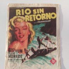 Cine: PUBLICIDAD ANTIGUA CINE RÍO SIN RETORNO. Lote 281930848