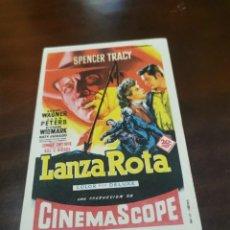 Foglietti di film di film antichi di cinema: PROGRAMA DE MANO ORIG - LANZA ROTA - CON CINE COSO IMPRESO AL DORSO. Lote 282548003