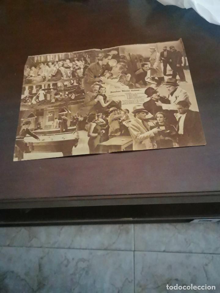 Cine: PROGRAMA DE MANO ORIG DOBLE - MIENTRAS MÉXICO DUERME - CON CINE IDEAL AL DORSO - Foto 2 - 283038543