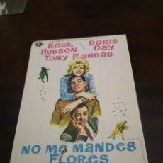 Foglietti di film di film antichi di cinema: PROGRAMA DE MANO ORIG - NO ME MANDES FLORES - CON CINE DE CALLOSA IMPRESO AL DORSO. Lote 283043038