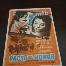 Cine: PROGRAMA DE MANO ORIG - PACTO DE HONOR - CON CINE DE AMETLLA DE MEROLA IMPRESO AL DORSO. Lote 283045903