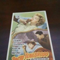 Cine: PROGRAMA DE MANO ORIG - PACTO TENEBROSO - CON CINE DE SEVILLA IMPRESO AL DORSO. Lote 283045993