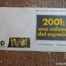 Folhetos de mão de filmes antigos de cinema: FOLLETO DE MANO GIGANTE DE LA PELICULA 2001 UNA ODISEA DEL ESPACIO. Lote 283316513