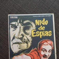 Cine: FOLLETO DE MANO NIDO DE ESPIAS , ROGER HANIN , REFC 94. Lote 283324123