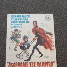 Cine: FOLLETO DE MANO AGARRAME ESE VAMPIRO , RENATO RASCEL , 1961 , REF 94. Lote 283337868