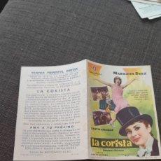 Cine: FOLLETO DE MANO LA CORISTA , MARUJITA DIAZ , 1961 , REF 94. Lote 283338013