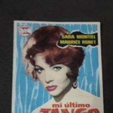 Cine: FOLLETO DE MANO MI ULTIMO TANGO , SARA MONTIEL , 1961 REF 94. Lote 283340388