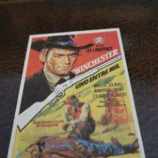 Folhetos de mão de filmes antigos de cinema: PROGRAMA DE MANO ORIG - WINCHESTER UNO ENTRE MIL - CON CINEMA CABRERA IMPRESO AL DORSO. Lote 283663368