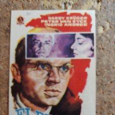 Folhetos de mão de filmes antigos de cinema: FOLLETO DE MANO DE LA PELICULA EL RESTO ES SILENCIO CON PUBLICIDAD. Lote 283710333