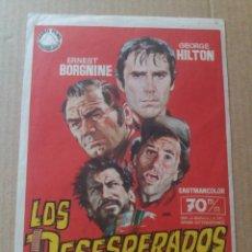 Folhetos de mão de filmes antigos de cinema: LOS DESESPERADOS. Lote 284234593