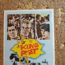 Cine: FOLLETO DE MANO DE LA PELICULA KING RAT. Lote 284265028