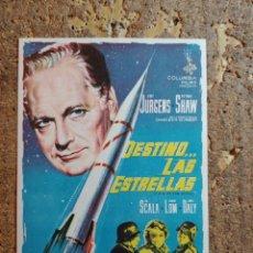 Cine: FOLLETO DE MANO DE LA PELICULA DESTINO LAS ESTRELLAS. Lote 284273003