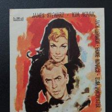 Folhetos de mão de filmes antigos de cinema: ME ENAMORÉ DE UNA BRUJA, JAMES STEWART, KIM NOVAK. Lote 284550593