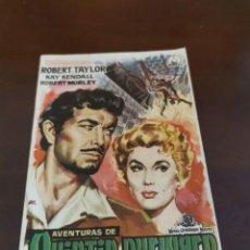 Foglietti di film di film antichi di cinema: PROGRAMA DE MANO ORIG - AVENTURAS DE QUINTÍN DURWARD- SIN CINE IMPRESO AL DORSO. Lote 284604233