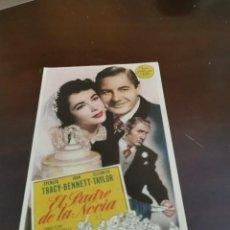 Folhetos de mão de filmes antigos de cinema: PROGRAMA DE MANO ORIG - EL PADRE DE LA NOVIA - CON CINE ALMIRANTE IMPRESO AL DORSO. Lote 284697658