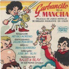 Cine: PG - PROGRAMA DE CINE - GARBANCITO DE LA MANCHA - BALET Y BLAY - COLISEO OLYMPIA (MÁLAGA) - 1946.. Lote 284755113