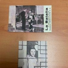 """Folhetos de mão de filmes antigos de cinema: FOLLETO DE CINE ANTIGUO """"LA BATALLA """". TARJETAS. DRAMA.. Lote 285088048"""