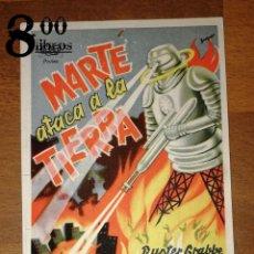Cine: MARTE ATACA A LA TIERRA / DIRECTOR: FORD BEEBE, ROBERT HILL ; INTÉRPRETES: BUSTER CRABBE, JEAN ROGER. Lote 285152593